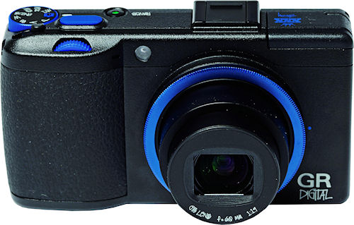 Ricoh's GR Digital III x Stussy edition, front view. Photo provided by Ricoh Co. Ltd. Click for a bigger picture!