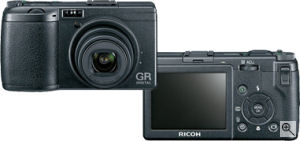 Ricoh's GR Digital. Courtesy of Ricoh, with modifications by Michael R. Tomkins. Click for a bigger picture!