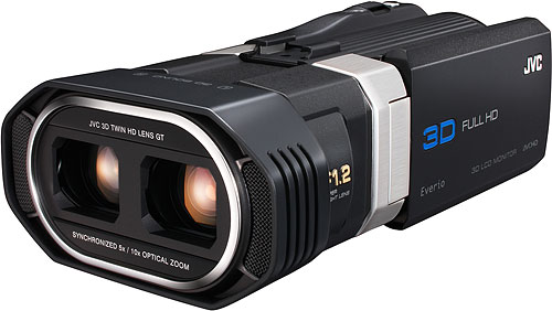 The JVC GZ-TD1 Full HD 3D camcorder. Photo provided by JVC Americas Corp. Click for a bigger picture!