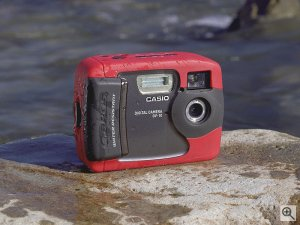Casio's G.BROS GV-10 digital camera. Courtesy of Casio Computer Co. Ltd. Click for a bigger picture!