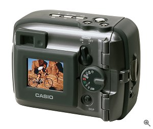 Casio's G.Bros GV-20 digital camera. Courtesy of Casio Japan, with modifications by Michael R. Tomkins.