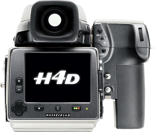 Hasselblad's H4D-60 medium format camera with sixty megapixel sensor. Photo provided by Hasselblad USA Inc. Click for a bigger picture!