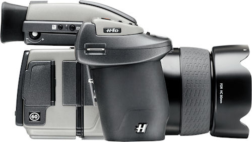 Hasselblad's H4D-60 medium format camera with lens attached. Photo provided by Hasselblad USA Inc. Click for a bigger picture!
