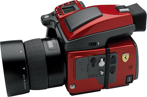 Hasselblad's H4D Ferrari Limited Edition. Photo provided by Victor Hasselblad AB. Click for a bigger picture!