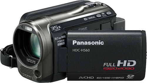 Panasonic's HDC-HS60 digital camcorder. Photo provided by Panasonic Consumer Electronics Co. Click for a bigger picture!