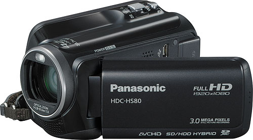 Panasonic's HDC-HS80 camcorder. Photo provided by Panasonic Consumer Electronics Co. Click for a bigger picture!