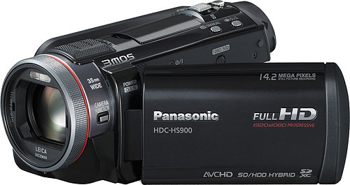 Panasonic's HDC-HS900 camcorder. Photo provided by Panasonic Consumer Electronics Co. Click for a bigger picture!