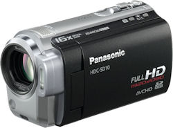 Panasonic's HDC-SD10 camcorder. Photo provided by Panasonic UK Ltd. Click for a bigger picture!