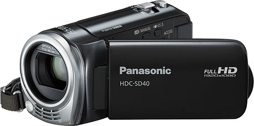 Panasonic's HDC-SD40 camcorder. Photo provided by Panasonic Consumer Electronics Co. Click for a bigger picture!