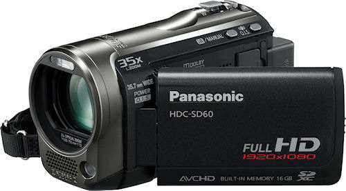 Panasonic's HDC-SD60 digital camcorder. Photo provided by Panasonic Consumer Electronics Co. Click for a bigger picture!