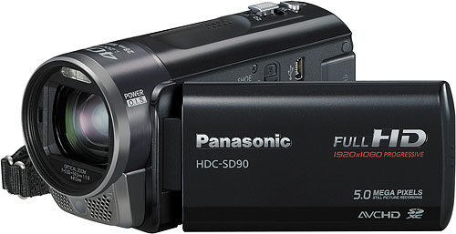 Panasonic's HDC-SD90 camcorder. Photo provided by Panasonic Consumer Electronics Co. Click for a bigger picture!