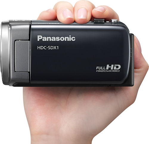 Panasonic's HDC-SDX1 camcorder in use. Photo provided by Panasonic Consumer Electronics Co. Click for a bigger picture!