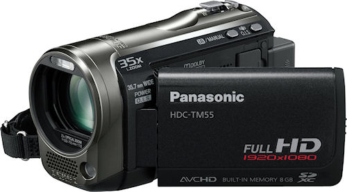 Panasonic's HDC-TM55 digital camcorder. Photo provided by Panasonic Consumer Electronics Co. Click for a bigger picture!