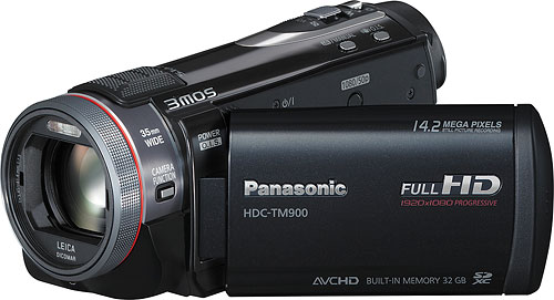 Panasonic's HDC-TM900 camcorder. Photo provided by Panasonic Consumer Electronics Co. Click for a bigger picture!