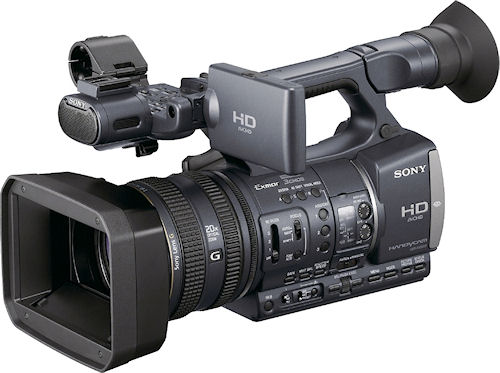 Sony's HDR-AX2000 digital camcorder. Photo provided by Sony Electronics Inc. Click for a bigger picture!