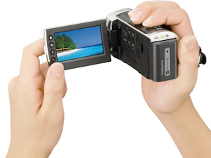 Sony HDR-CX100 digital camcorder. Photo provided by Sony Electronics. Click for a bigger picture!