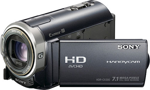 Sony's HDR-CX300 digital camcorder. Photo provided by Sony Electronics Inc. Click for a bigger picture!