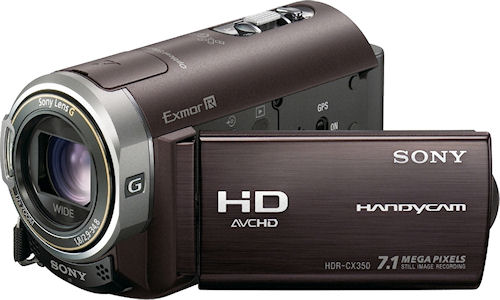 Sony's HDR-CX350V digital camcorder. Photo provided by Sony Electronics Inc. Click for a bigger picture!
