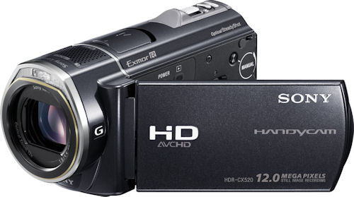 Sony's Handycam HDR-CX520V camcorder. Photo provided by Sony Electronics. Click for a bigger picture!