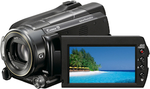 Sony HDR-XR520V digital camcorder. Photo provided by Sony Electronics. Click for a bigger picture!