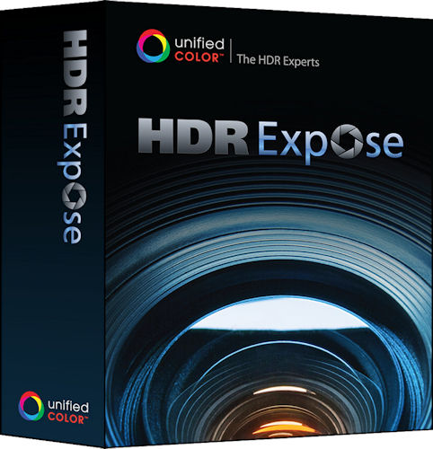 Unified Color's HDR Expose product packaging. Rendering provided by Unified Color Technologies LLC. Click for a bigger picture!