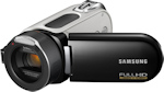 Samsung's HMX-H100 camcorder. Courtesy of Samsung, with modifications by Michael R. Tomkins. Click for a bigger picture!