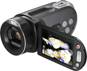 Samsung HMX-H104 camcorder. Photo provided by Samsung Electronics America Inc. Click for a bigger picture!
