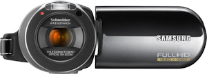 Samsung HMX-H106 camcorder. Photo provided by Samsung Electronics America Inc. Click for a bigger picture!