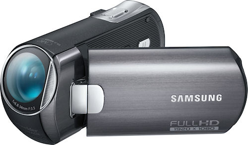 Samsung's HMX-M20 digital camcorder. Photo provided by Samsung Electronics America Inc. Click for a bigger picture!