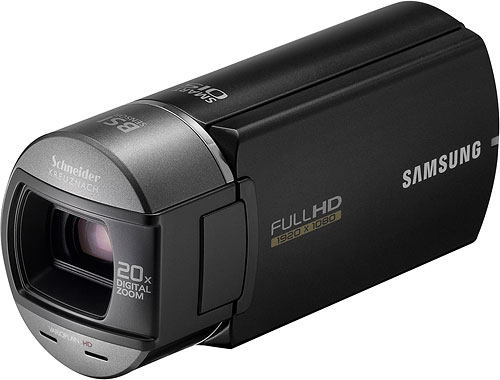 Samsung's HMX-Q10 camcorder. Photo provided by Samsung Electronics Co. Ltd. Click for a bigger picture!