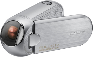 Samsung HMX-R10 digital camcorder. Photo provided by Samsung Electronics America Inc. Click for a bigger picture!