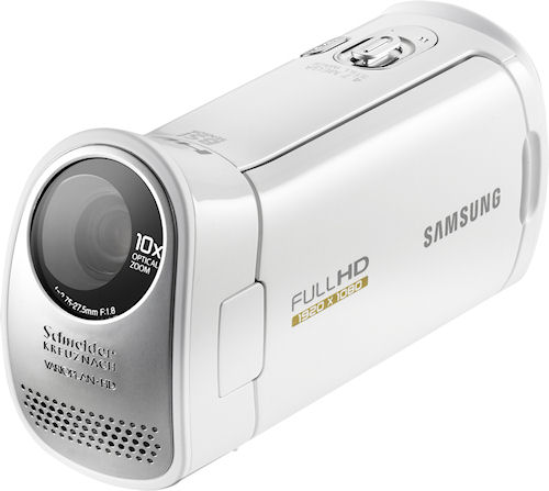 The Samsung HMX-T10 camcorder. Photo provided by Samsung Electronics Co. Ltd. Click for a bigger picture!