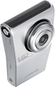 Samsung's HMX-U10 high-definition camcorder. Photo provided by Samsung Electronics Co. Ltd. Click for a bigger picture!