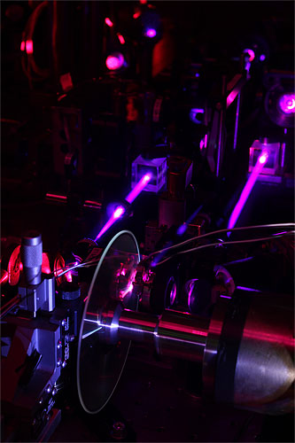 A prototype holographic drive system designed by GE researchers in the Applied Optics Lab at GE Global Research in Niskayuna, NY. Photo and caption provided by General Electric Co. / Business Wire. Click for a bigger picture!