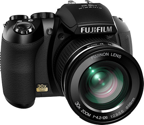 Fujifilm's FinePix HS10 digital camera. Photo provided by Fujifilm North America Corp. Click for a bigger picture!