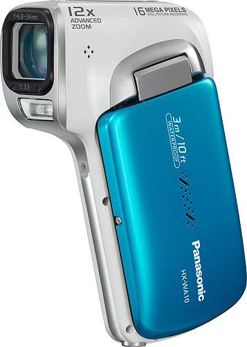The Panasonic HX-WA10 Full-HD Camcorder. Photo provided by Panasonic Marketing Europe GmbH. Click for a bigger picture!