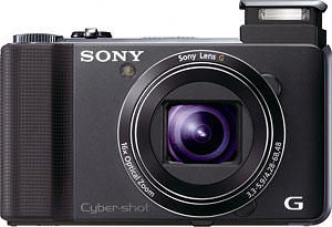 Sony's HX9V digital camera. Photo provided by Sony Electronics Inc. Click for a bigger picture!