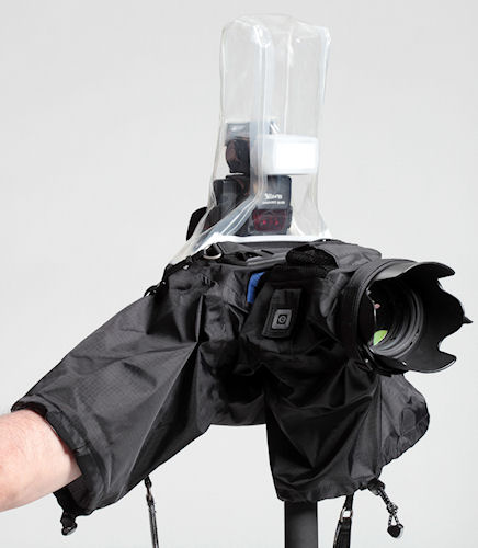 Think Tank Photo's Hydrophobia Flash 70-200 rain cover. Photo provided by Think Tank Photo. Click for a bigger picture!