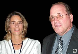The International Imaging Industry Association's co-executive directors, Lisa Walker and Michael Nier. Courtesy of the I3A - click for a bigger picture!