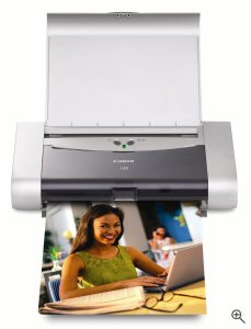 Canon's i80 Bubble Jet Printer. Courtesy of Canon, with modifications by Michael R. Tomkins. Click for a bigger picture!
