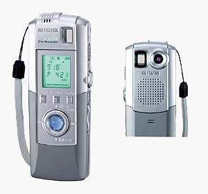 Aiwa'a IC-DP200 'Eye Recorder'. Courtesy of Aiwa Co. Ltd., with modifications by Michael R. Tomkins.