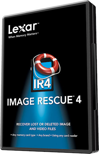 Lexar Image Rescue 4 product packaging. Photo provided by Micron Technology Inc. Click for a bigger picture!