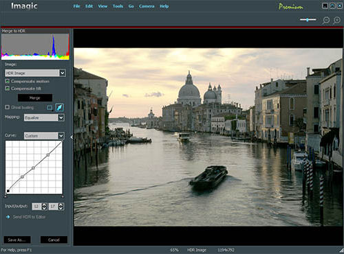 Creating an HDR image in Imagic Premium. Screenshot provided by STOIK Imaging.