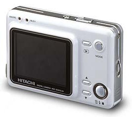Hitachi's i.mega HDC-302SLIM digital camera. Courtesy of Hitachi, with modifications by Michael R. Tomkins. Click for a bigger picture!