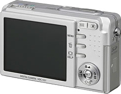 Hitachi's i.mega HDC-531 digital camera. Courtesy of Hitachi, with modifications by Michael R. Tomkins.