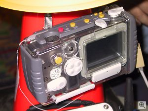 Ricoh's iMove system - the RDC-i700 camera in weatherproof housing. Copyright © 2001, Michael R. Tomkins. All rights reserved. Click for a bigger picture!