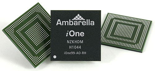 Ambarella's iOne System-on-Chip. Image provided by Ambarella Inc. Click for a bigger picture!