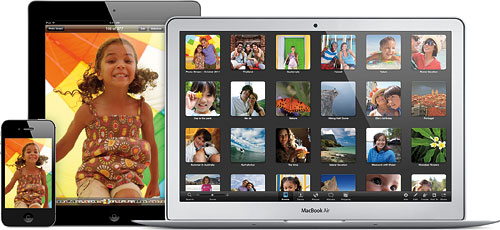 Apple's iCloud service aims to ease sharing of content between iOS 5 devices. Image provided by Apple Inc. Click for a bigger picture!