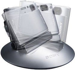 Sony's IPT-DS1 dock is capable of 360-degree rotation. Photo provided by Sony Electronics Inc. Click for a bigger picture!
