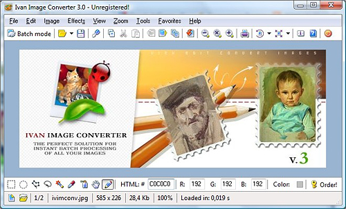 IvanView's Ivan Image Converter. Screenshot provided by IvanView. Click for a bigger picture!